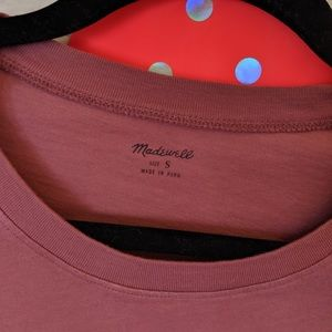 Madewell Tops - Madewell knot front tee berry pink red Small